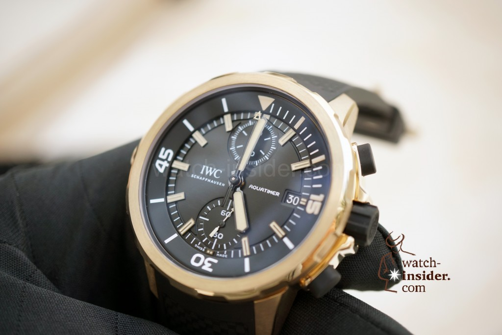 "IWC Aquatimer Chronograph Edition ""Expedition Charles Darwin"". For the first time ever, IWC makes use of bronze for a watchcase"