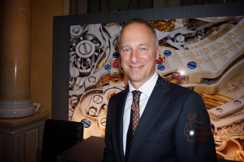 Munichtime 2013: A. Lange & Söhne CEO Wilhelm Schmid. I will have dinner with him tonight.