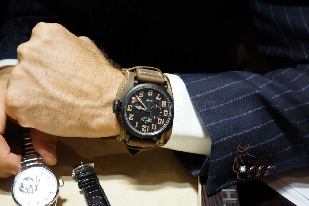 Jean-Fred Dufour CEO Zenith wearing a Type 20