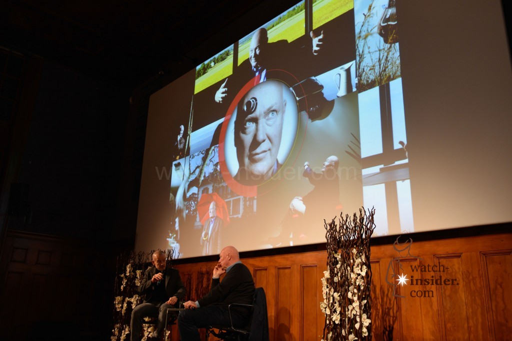 Jean-Claude Biver and Alexander Linz at a panel discussion at Viennatime