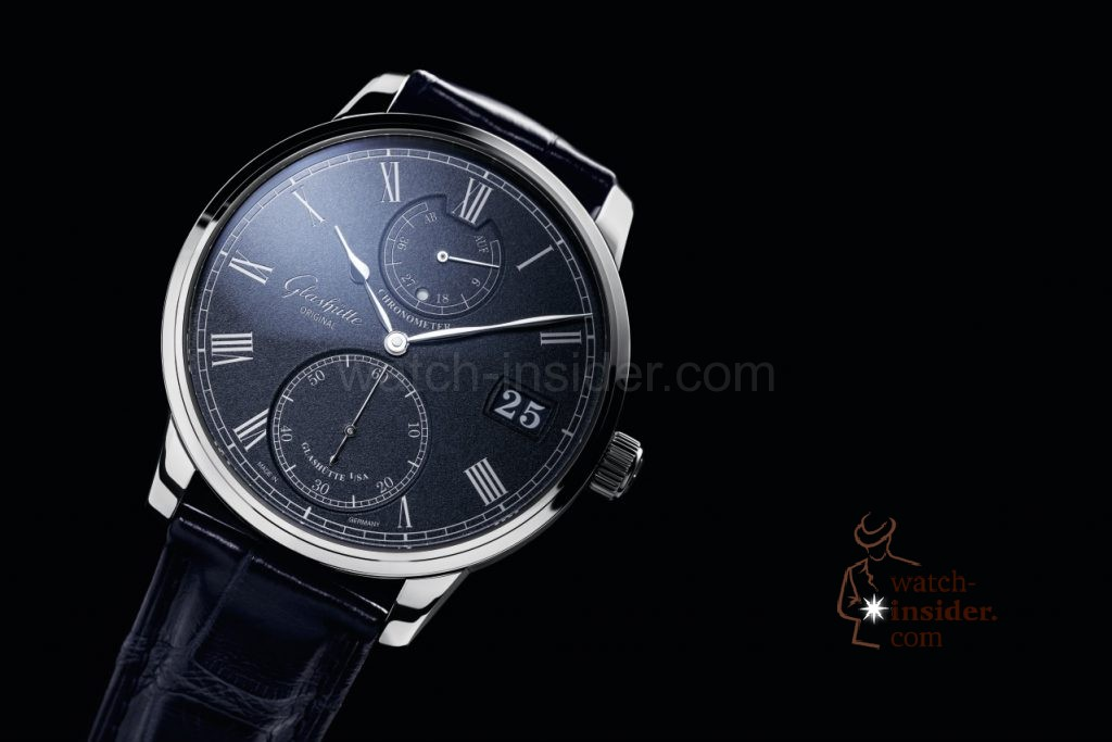 Glashütte Original Senator Chronometer blue dial