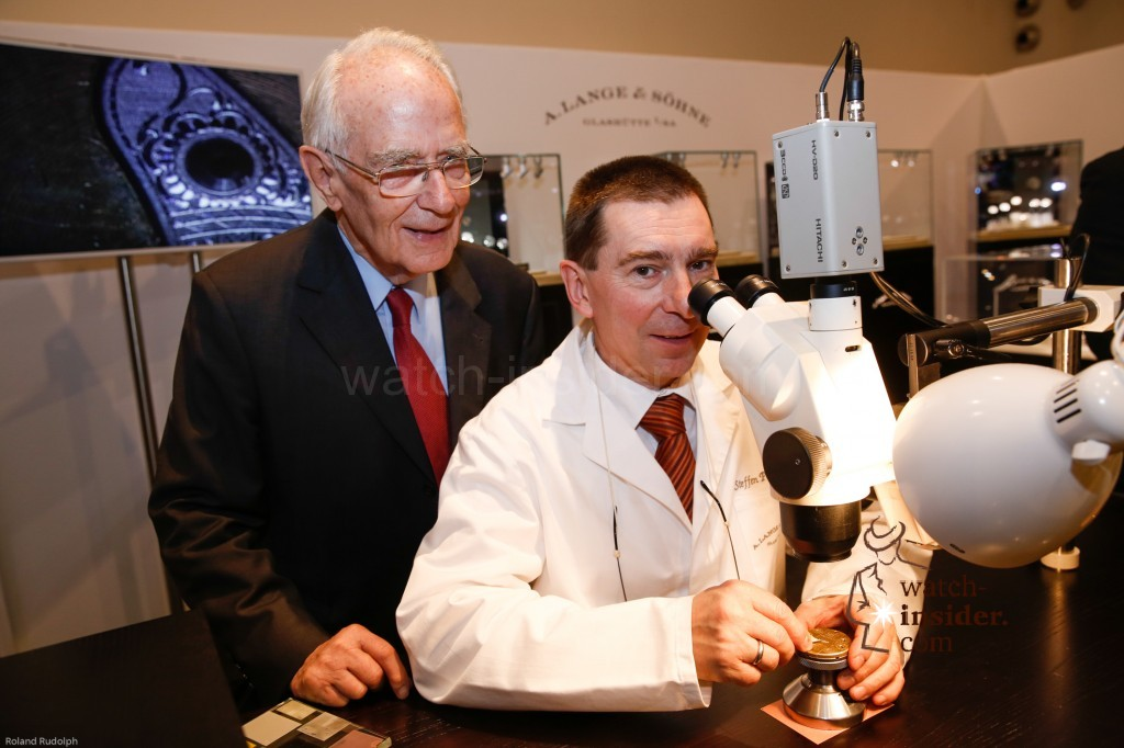 Walter Lange and A. Lange & Söhne master engraver at Viennatime showing their skills