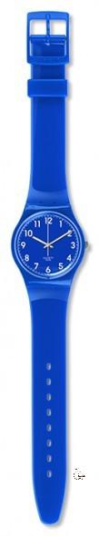 GN238 ZAF Model: Gent Dial: blue with white Arabic numerals Case: solid blue polished plastic Bracelet: blue plastic