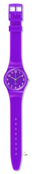 GV126 AMETHYSIA Model: Gent Dial: purple with white Arabic numerals Case: solid purple polished plastic Bracelet: purple plastic