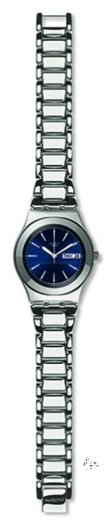 YLS713G GRANDE DAME Model: Irony Medium Dial: sun-brushed blue with white indexes, day/date window at 3 o'clock Case: polished stainless steel 316L Bezel: polished stainless steel 316L Bracelet: adjustable polished stainless steel 316L