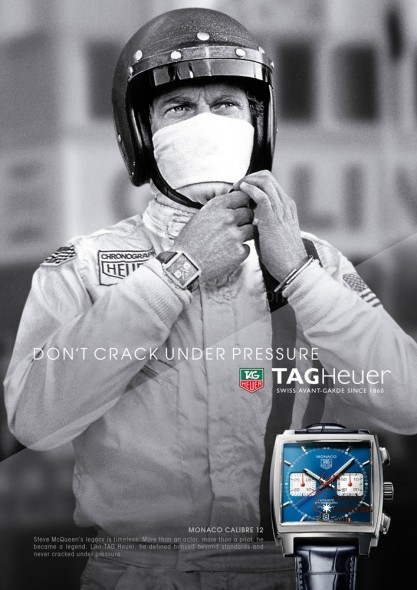 DON'T CRACK UNDER PRESSURE. Do you remember the early 1990´s campaign of TAG Heuer? Now it´s back!