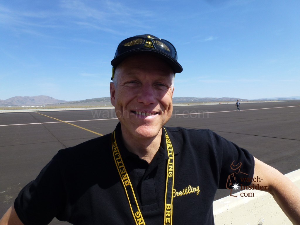 Live from the Reno Air Races: Talking about the new Cockpit B50 with Breitling Vice President Jean-Paul Girardin.