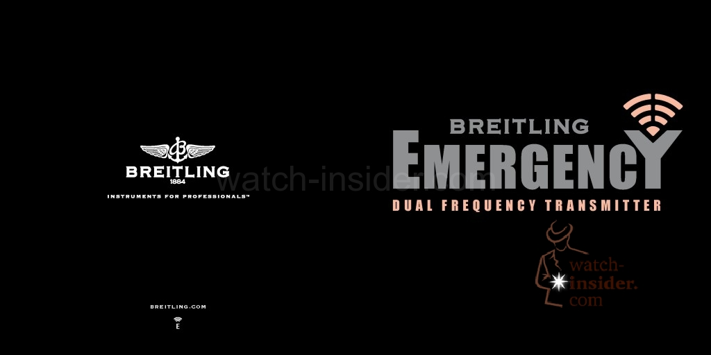 In my huge bag of Baselworld 2013 digital goodies I found this interesting Breitling Emergency II brochure