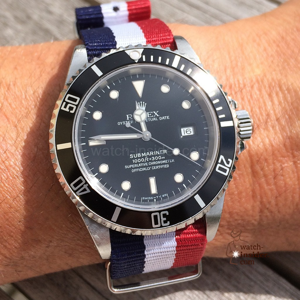 The colorful way of sporting a Rolex Submariner (Monday 12:40 Updated with another summer picture-book entry)