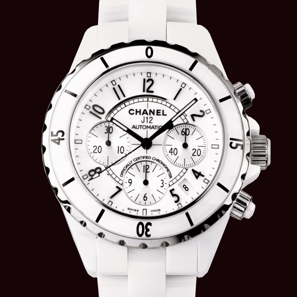 Chanel white ladies watch J12