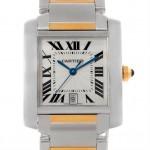 A Recognizable Fashion 18K Yellow Gold Watch- Cartier Tank Française