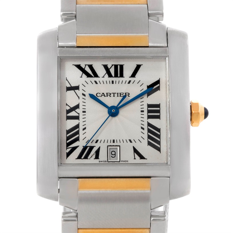 A Recognizable Fashion 18K Yellow Gold Watch- Cartier Tank Française