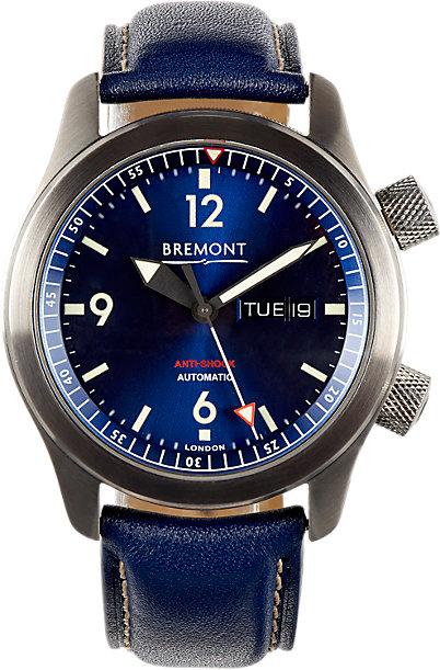 Front of Bremont U-2/BL men's watch