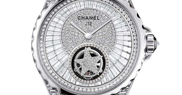 Chanel J12 Flying Tourbillon ladies watch dial
