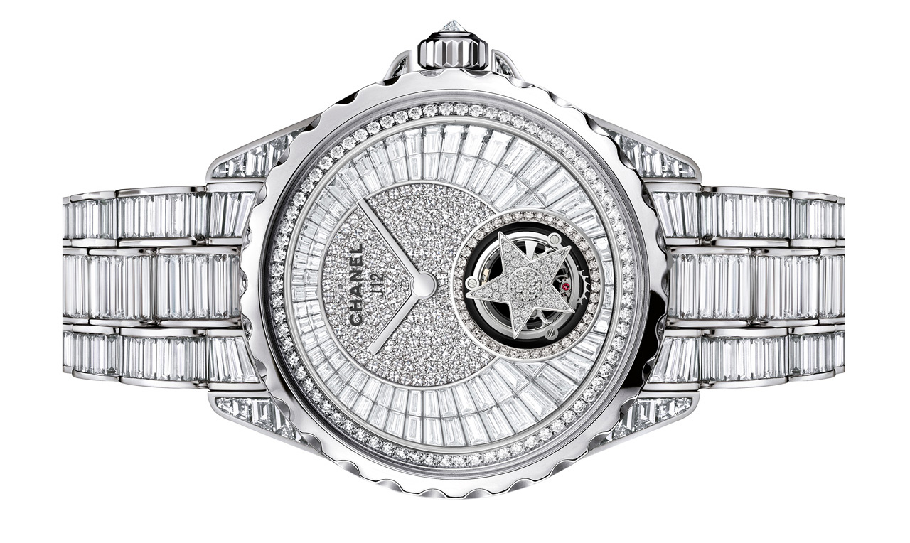 Front of Chanel J12 Flying Tourbillon ladies watch 02