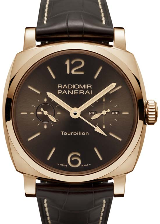 Front of Radiomir 1940 Tourbillon GMT Oro Rosso PAM55 02