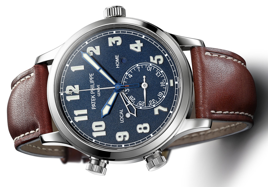 Side of Patek Philippe Calatrava Pilot Travel Time Ref. 5524 03