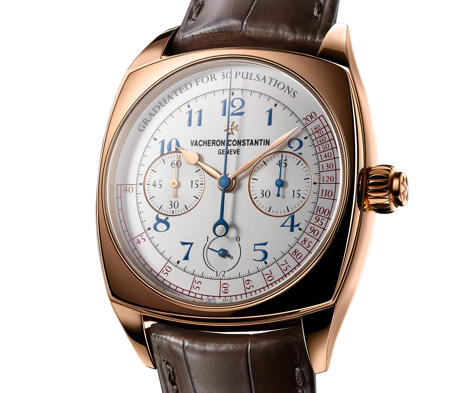 Side of Vacheron Constantin 18k rose gold Harmony Chronograph Watch