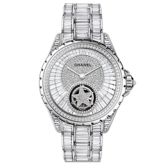 Front of Chanel J12 Flying Tourbillon ladies watch