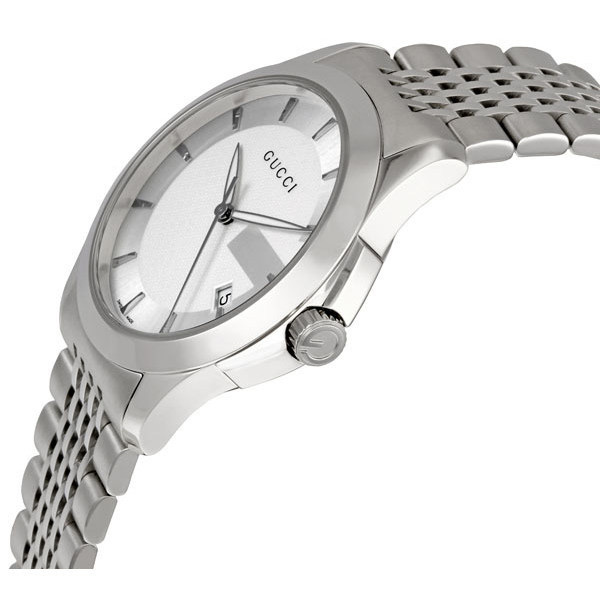 379a92352eb Gucci G-Timeless Men s YA126401 Stainless Steel Watch – Best Swiss ...