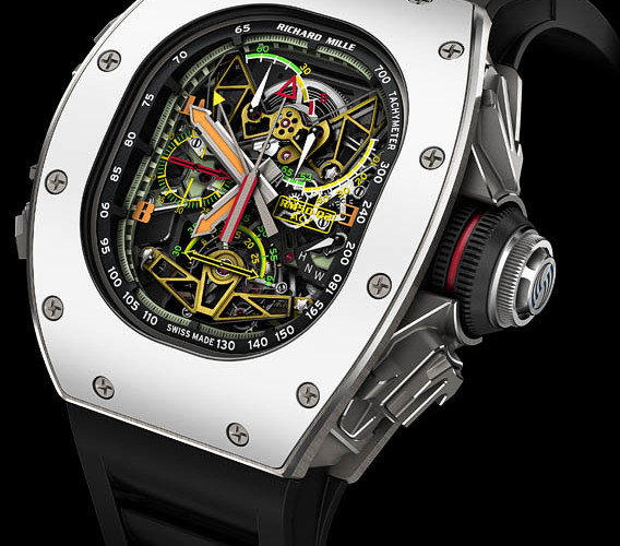 Side of Richard Mille RM 50-02 ACJ Tourbillon Split Seconds Chronograph
