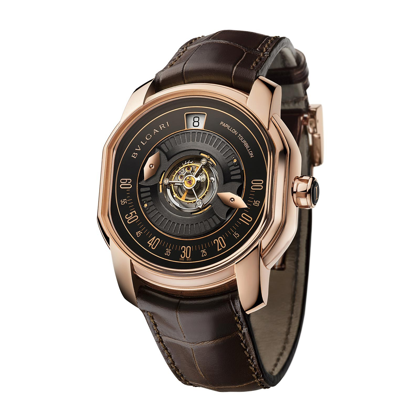 Side of Bvlgari Papillon Central Tourbillon