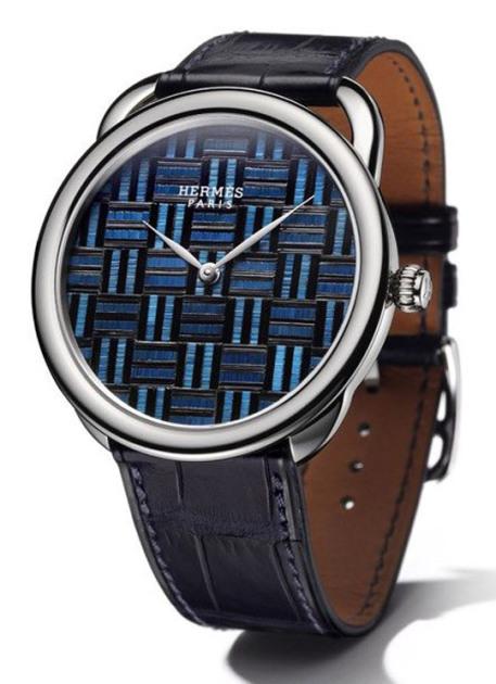 Hermès Arceau Marqueterie De Paille Watches 02