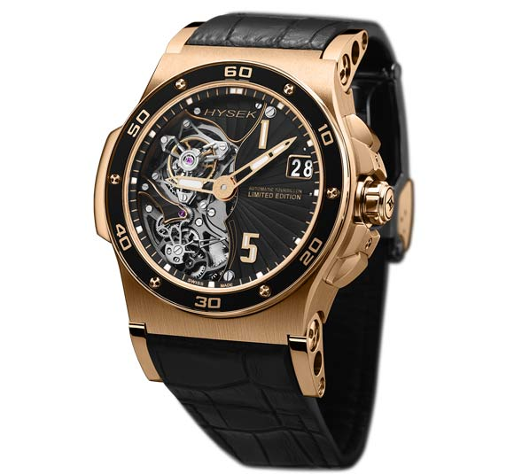 Side of Hysek Abyss 44mm 18k rose gold Tourbillon 03