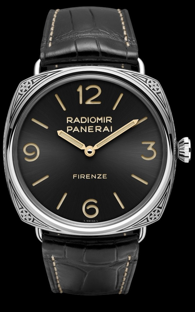 Front of Panerai Radiomir Firenze limited edition watch