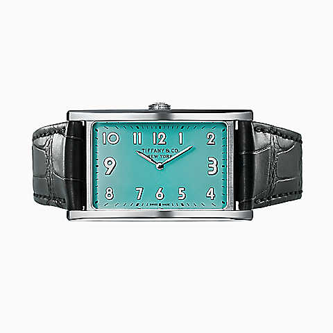 Front of Tiffany & Co. East West Blue Dial watch 02