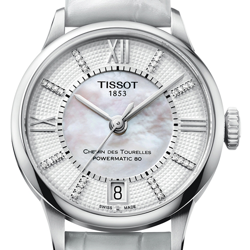 Tissot Chemin Des Tourelles Automatic watch dial