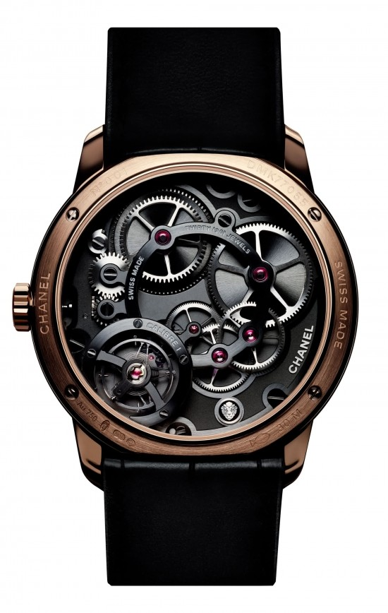 Monsieur De Chanel man's watch caseback