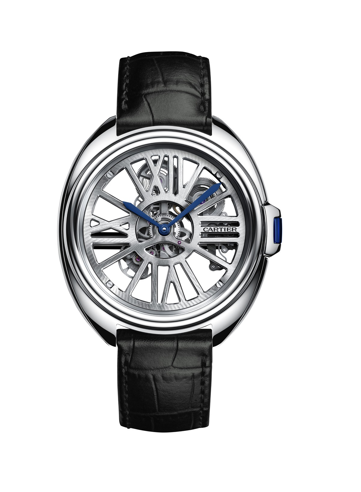 Front of Cartier Clé Automatic Skeleton Watch
