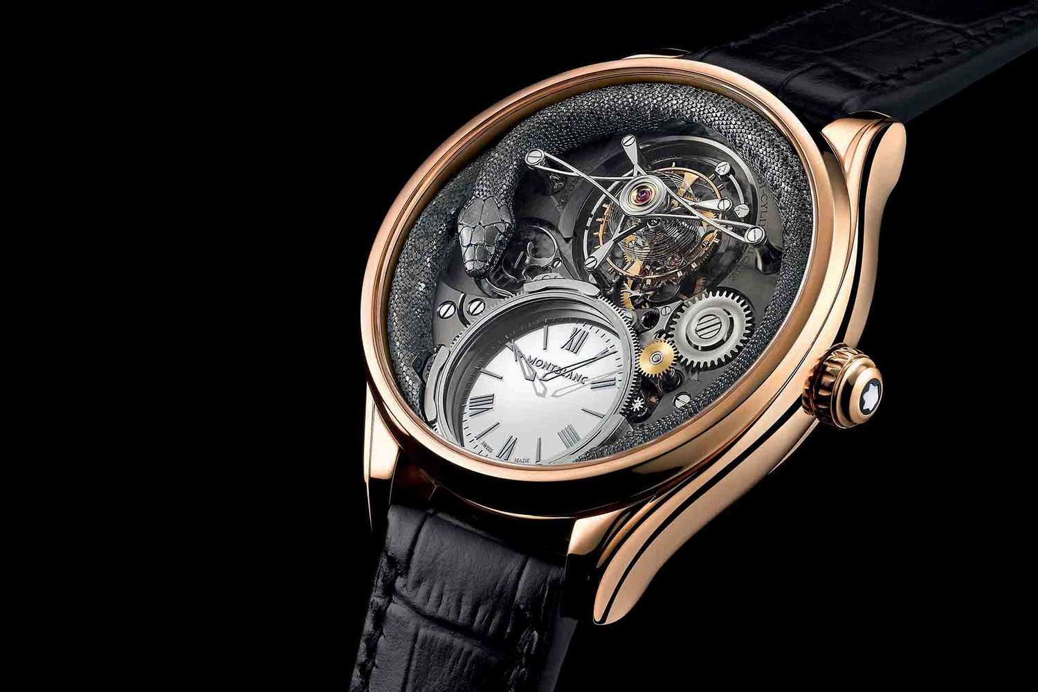 Side of Montblanc Villeret Tourbillon Bi-Cylindrique watch