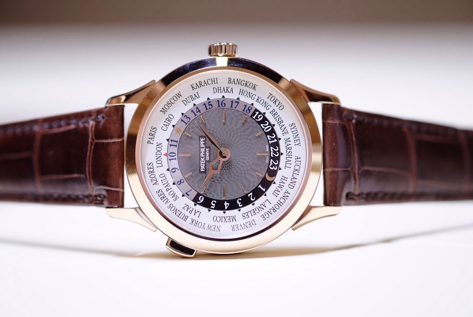 Side of Patek Philippe World Time Ref. 5230 Watch 02