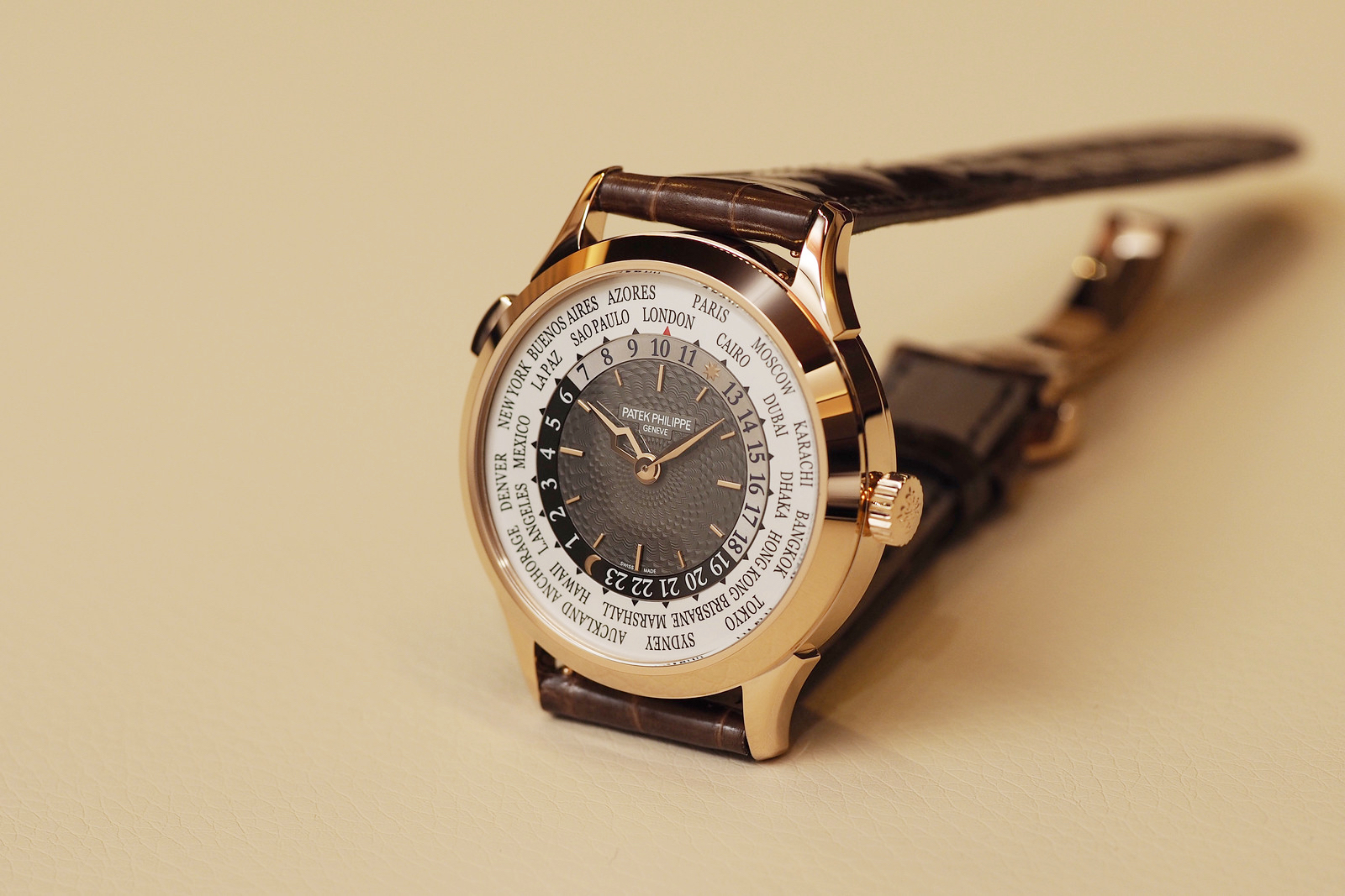 Side of Patek Philippe World Time Ref. 5230 Watch