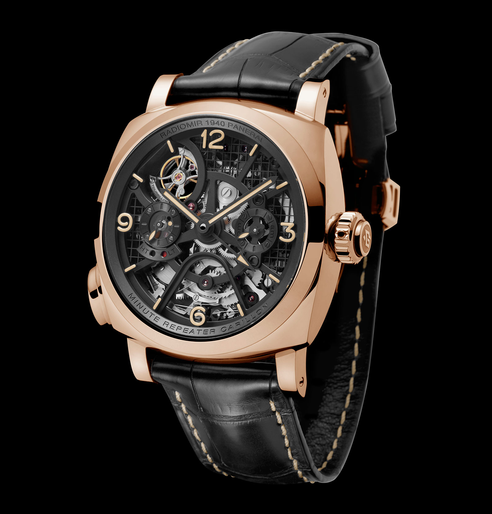 Side of Panerai Radiomir 1940 Minute Repeater Carillon Tourbillon GMT