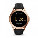 FOSSIL Q FOUNDER touchscreen functionality and classic good looks black leather smartwatch