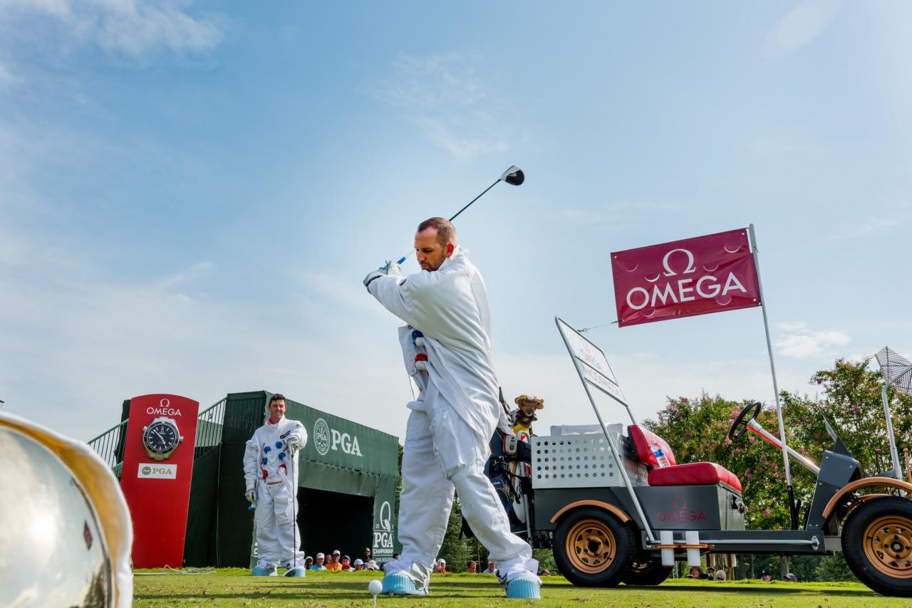 Sergio Garcia Hits Drive with Rory McIlroy Watching - OMEGA