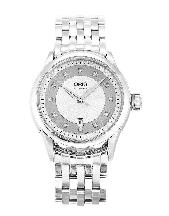 Gorgeous Oris Silver Diamond Dial Watch