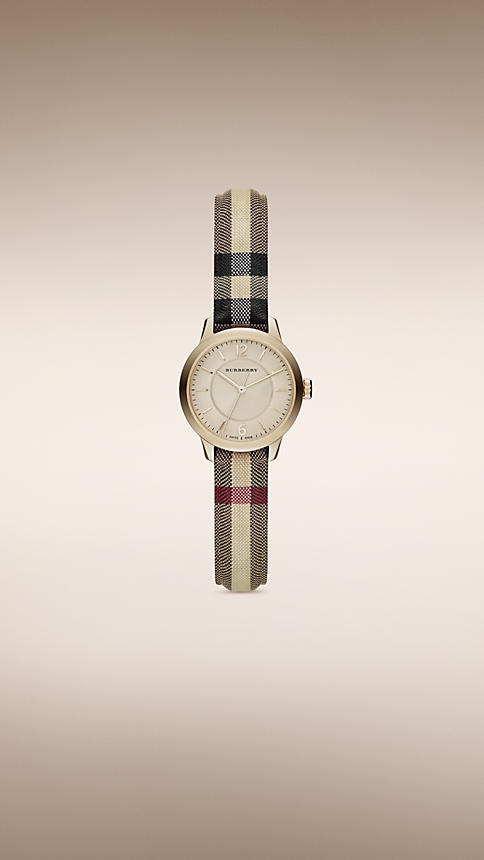 Burberry Classic Round Fashion Watch For Women