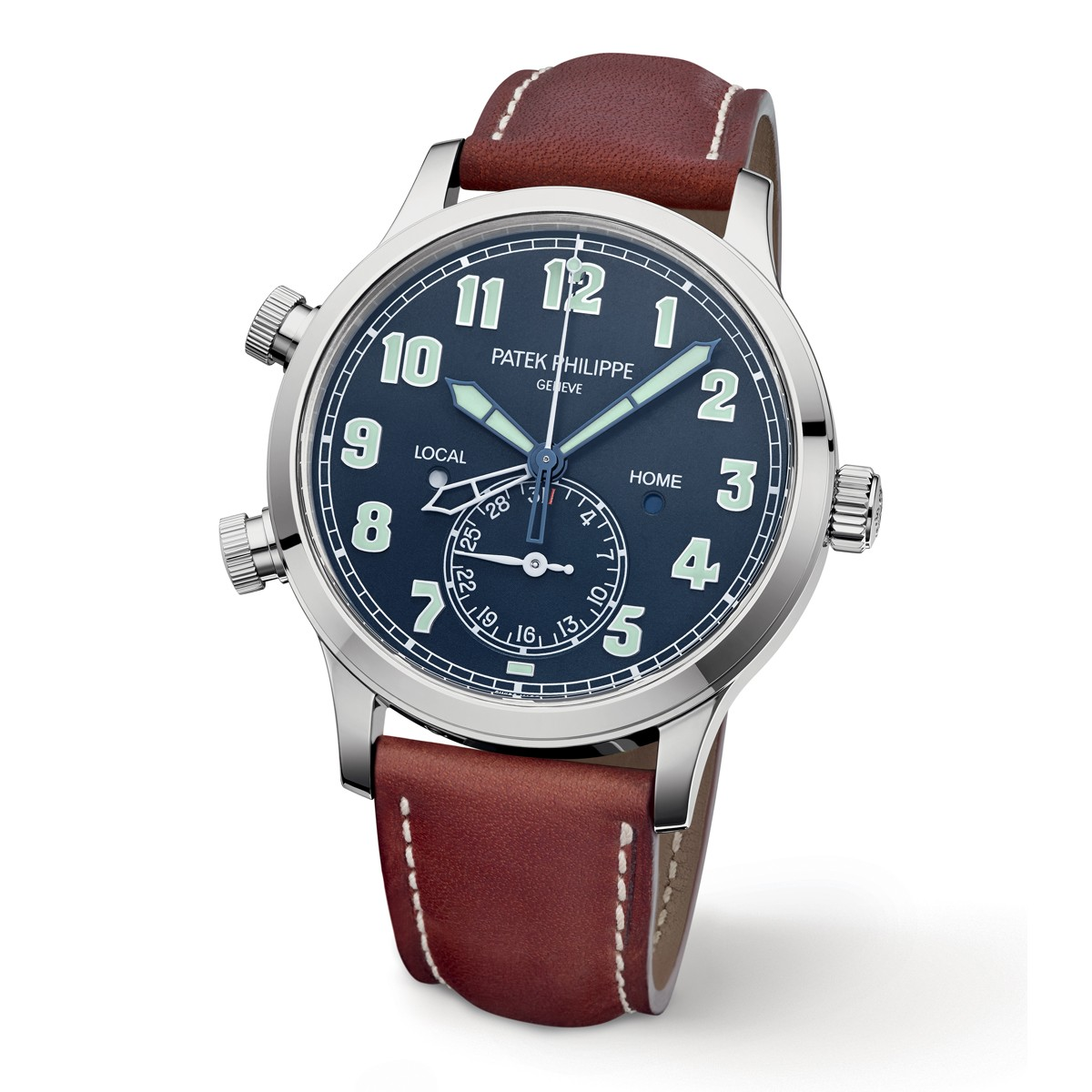 Side of Patek Philippe Calatrava Pilot Travel Time Ref. 5524 02