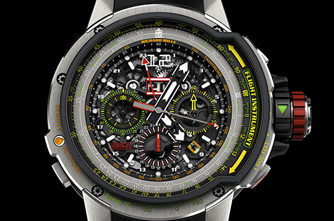 Front of Richard Mille RM 39-01 Automatic Aviation E6-B 02