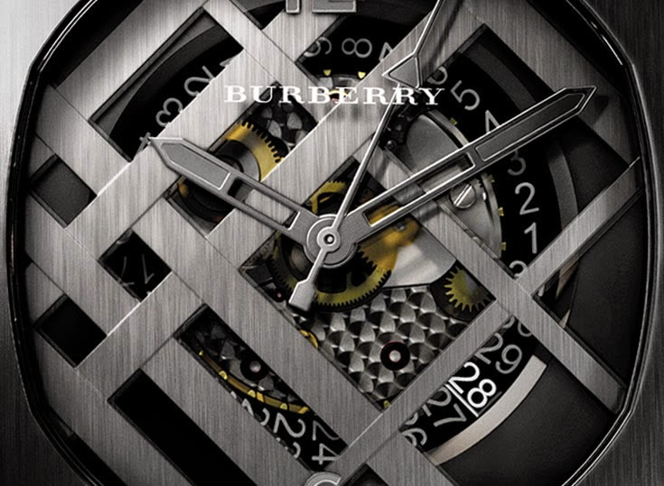 Burberry The Britain Icon Check speical edition watch dial