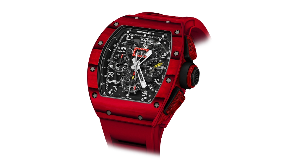 Side of Richard Mille RM 011 Red TPT Quartz watch