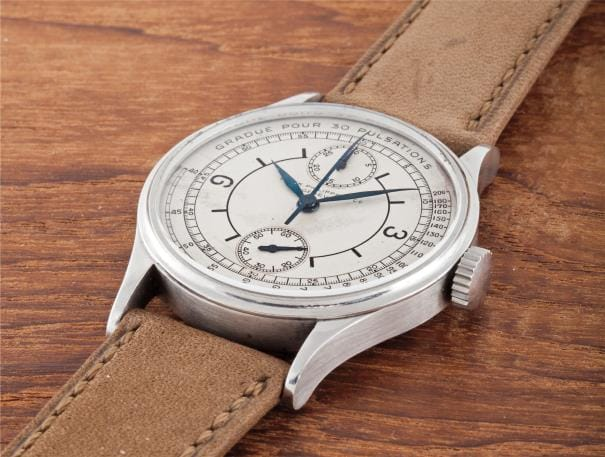 Patek Philippe Stainless Steel Mono Pusher Doctors Chronograph Reference